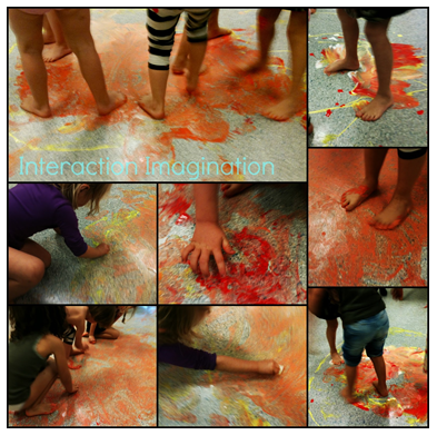 Sometimes the paper was eliminated because  painting was not the primary aim, but being allowed  to clean a floor like Cinderella was the play of the day